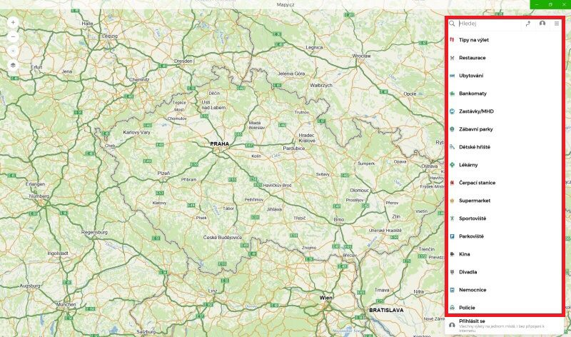 mapy.cz offline navigace ve windows10 05