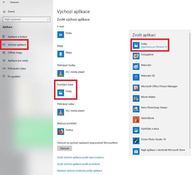 Prohlížeč fotografií ve Windows 10