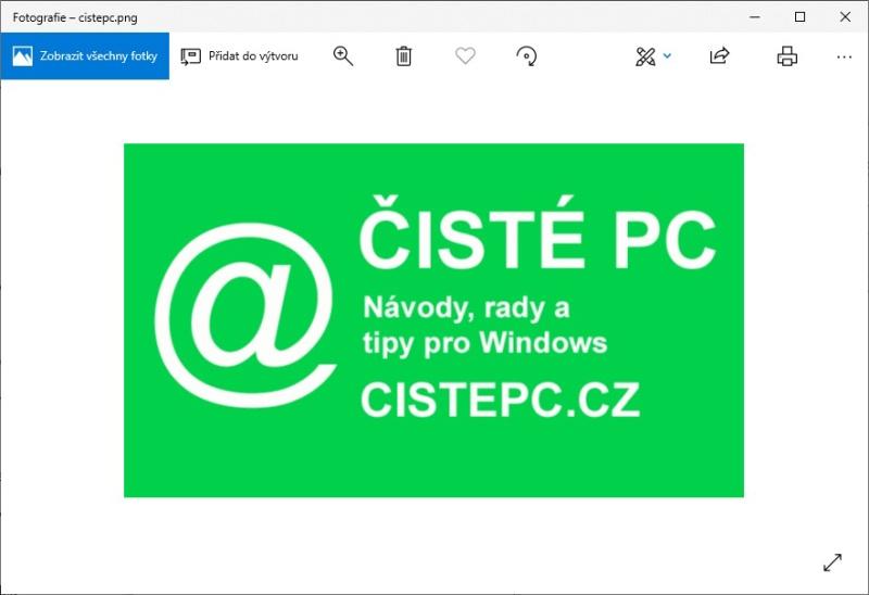 Prohlížeč fotografií ve Windows 10 - 2