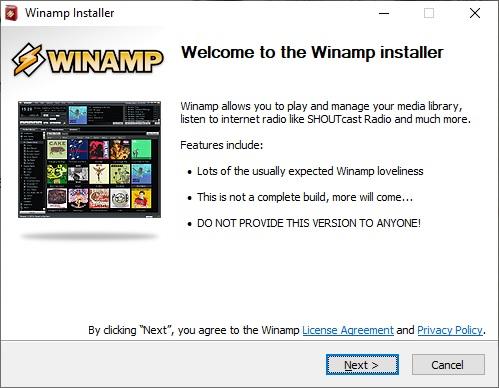 Winamp přehrávač 03