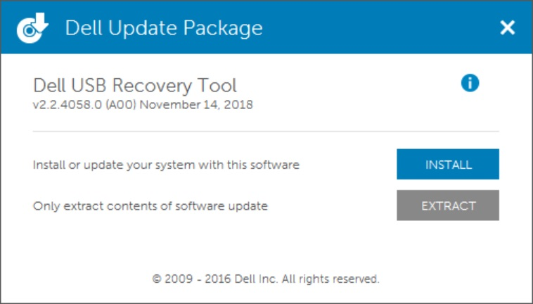 Dell OS recovery tool 2