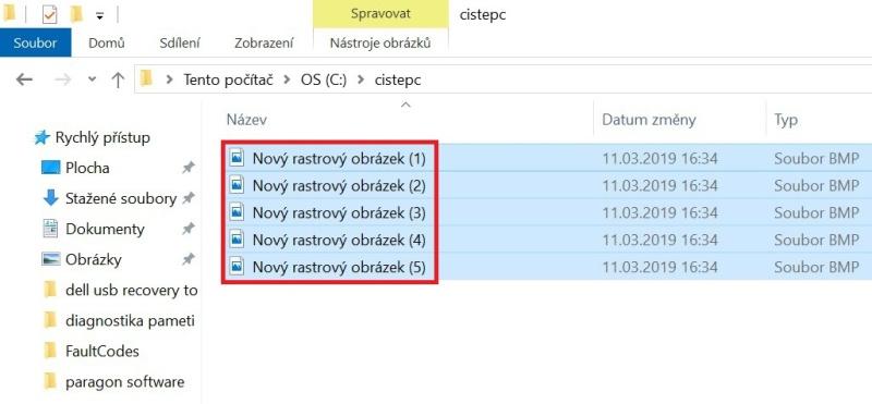 Hromadné přejmenování souborů ve Windows 10