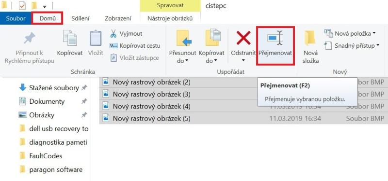 Hromadné přejmenování souborů ve Windows 10 - 2