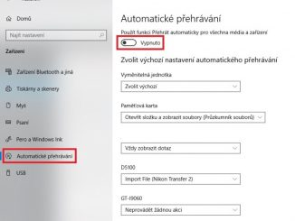 Jak vypnout automatické přehrávání ve Windows 10