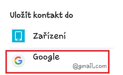 Záloha kontaktů v mobilu Samsung s Androidem 5