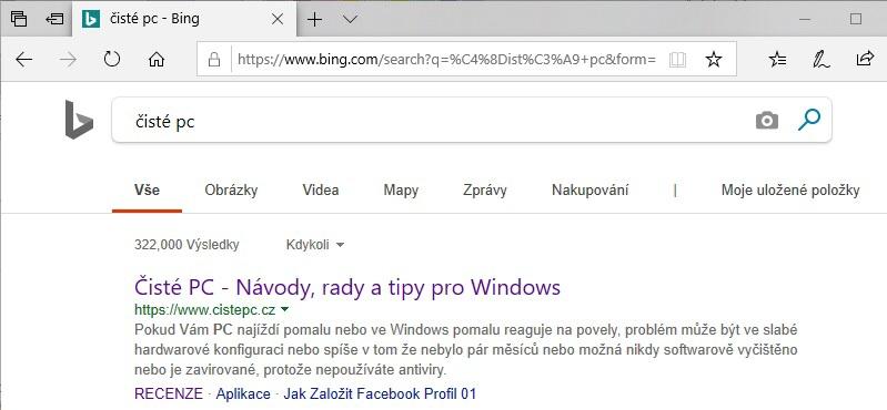 Google vyhledávač v Microsoft Edge 6