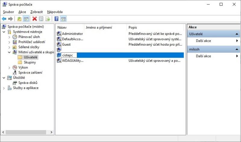 Jak přejmenovat účet ve Windows 10