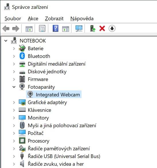 Jak vypnout webkameru na notebooku ve Windows 10 - 1