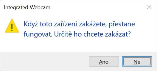 Jak vypnout webkameru na notebooku ve Windows 10 - 3