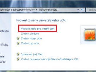 Jak vytvořit heslo ve Windows 7