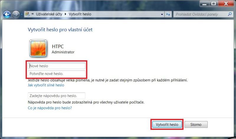 Jak vytvořit heslo ve Windows 7 - 2