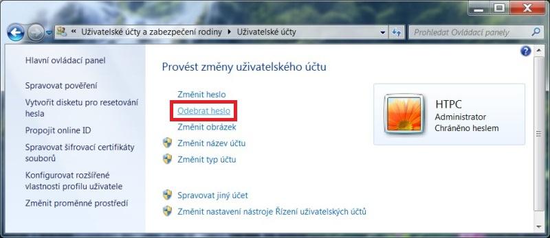 Jak zrušit heslo u Windows 7 - 2