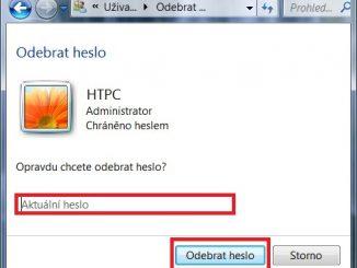 Jak zrušit heslo u Windows 7 - 3