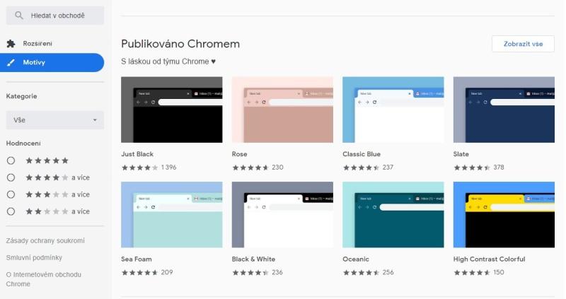 Internetový obchod Chrome 2