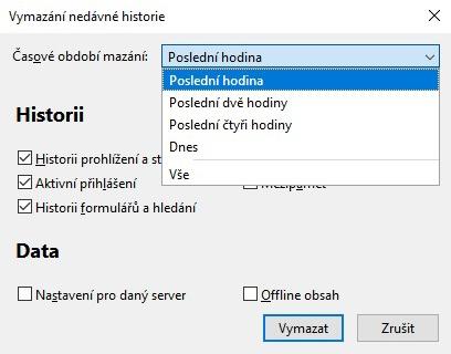 Jak vymazat údaje o prohlížení v Mozilla Firefox