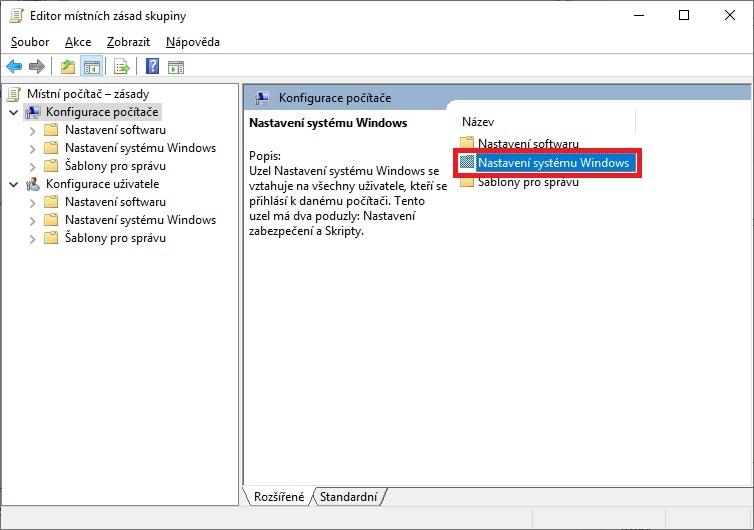 Konfigurace počítače - nastavení systému Windows 10