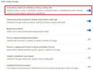Našeptávač Google Chrome