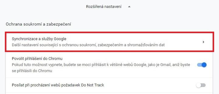 Našeptávač Google Chrome 2