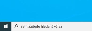 Windows 10 nové vyhledávání