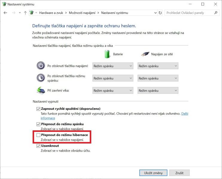 Hibernace Windows 10 - 4