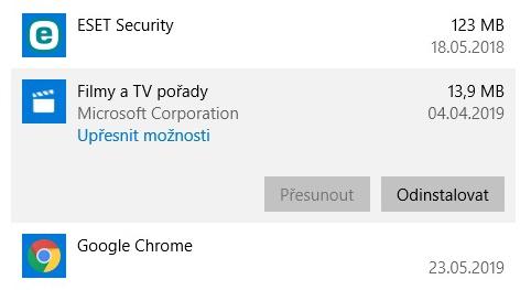Integrované aplikace ve Windows 10