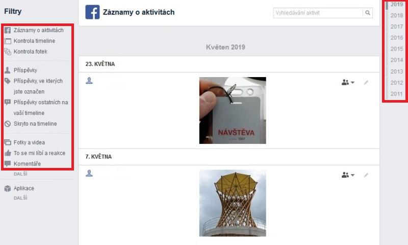 Jak smazat fotky a příspěvky na Facebooku 4