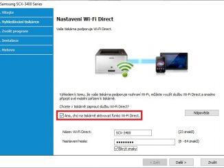 Připojení tiskárny Samsung přes wifi - 08