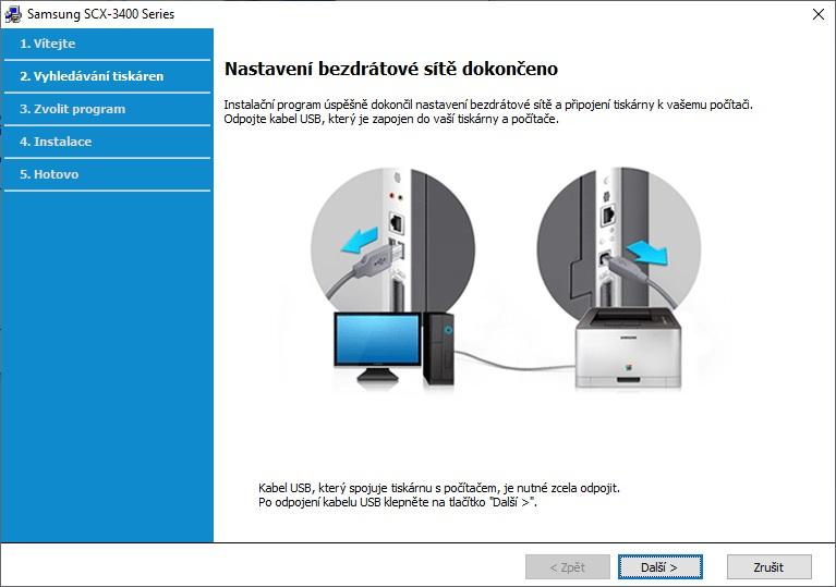 Připojení tiskárny Samsung přes wifi - 09