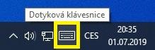 Dotyková klávesnice ve Windows 10 - 2