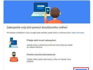 Dvoufazové ověření Google Gmail 3