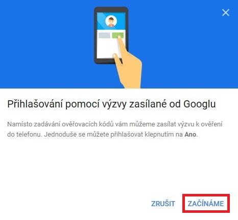 Dvoufazové ověření Google Gmail 9