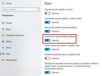 Nejpoužívanější aplikace ve Windows 10 - 3