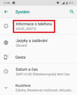 Jak zjistit verzi Android v mobilu 2