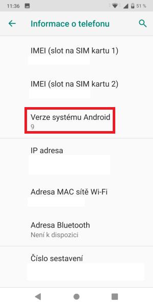 Jak zjistit verzi Android v mobilu 3