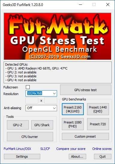Geeks 3D Furmark 04