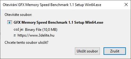 GFX Memory Speed Benchmark 1