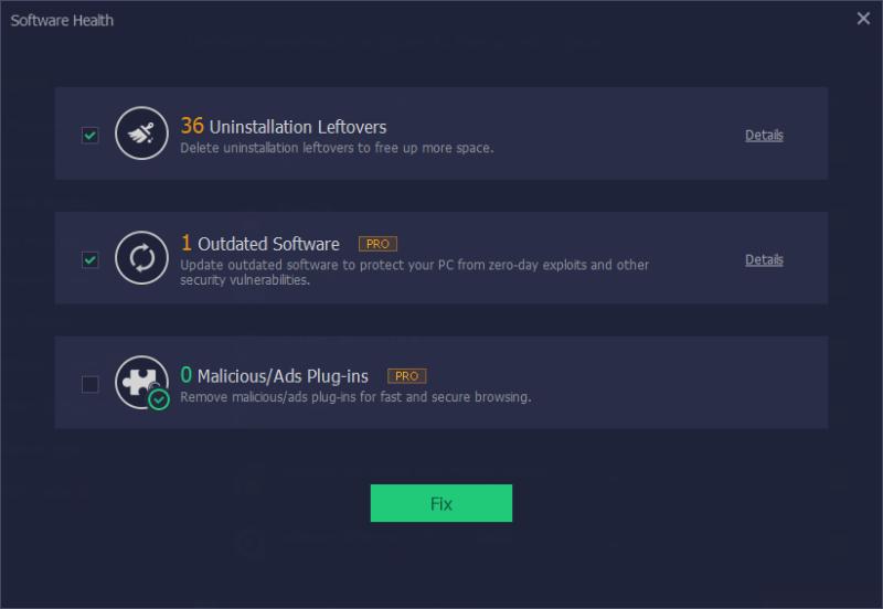 iObit Uninstaller 9 - software health
