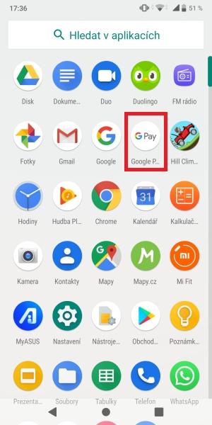 Jak platit mobilem pomocí Google Pay 06