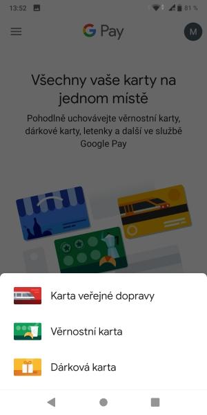 Jak platit mobilem pomocí Google Pay 14