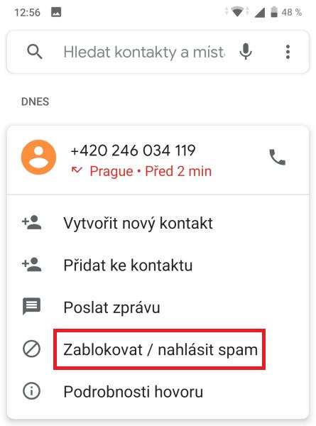 Jak zablokovat telefonní číslo 2