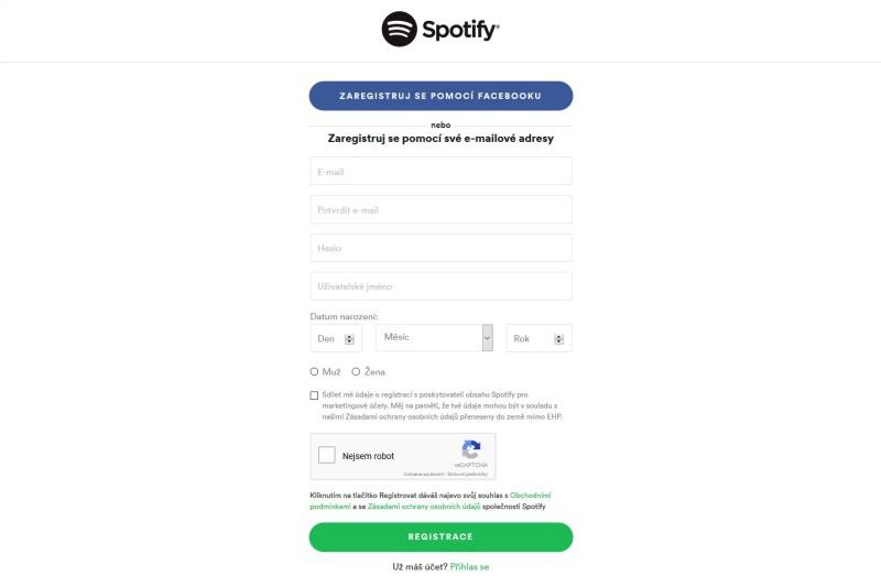 Spotify aplikace 2