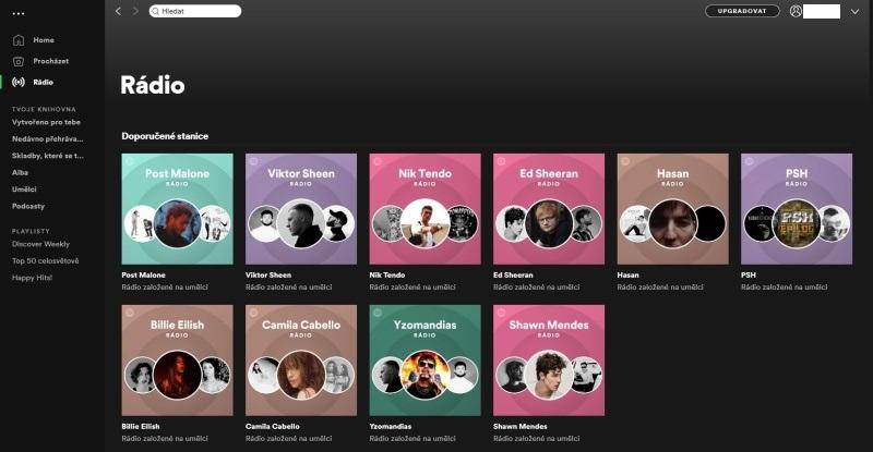 Spotify aplikace 10