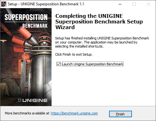 Unigine benchmark Superposition 03