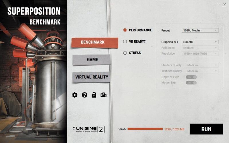 Unigine benchmark Superposition 04