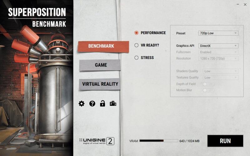 Unigine benchmark Superposition 05
