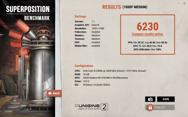 Unigine benchmark Superposition 09