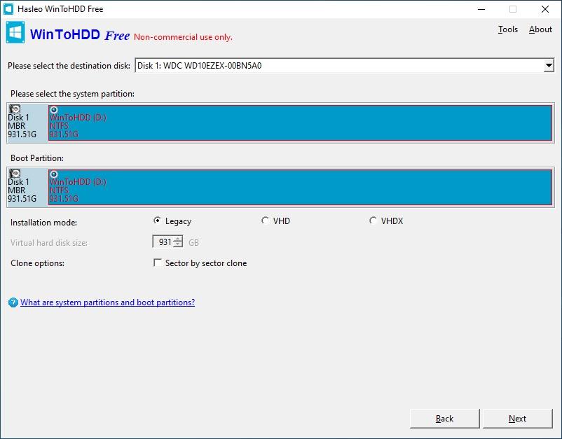 WinToHDD - program na klonování pevného disku zdarma 9