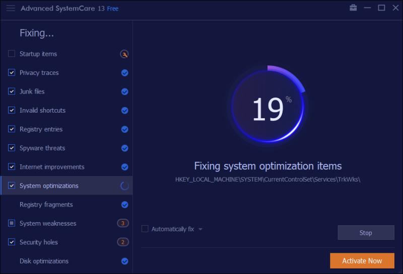 Advanced SystemCare 13 - 04 oprava