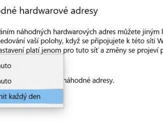 Náhodné hardwarové adresy Wi-Fi 2