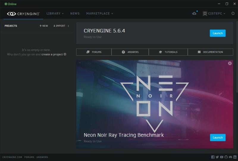 Neon Noir Ray Tracing Benchmark 6